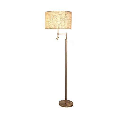 Tyannan Lámpara de pie Dormitorio Sala de Estudio Sala de soporte básico de la lámpara estilo europeo retro Lámpara de pie Lámpara de pie vertical