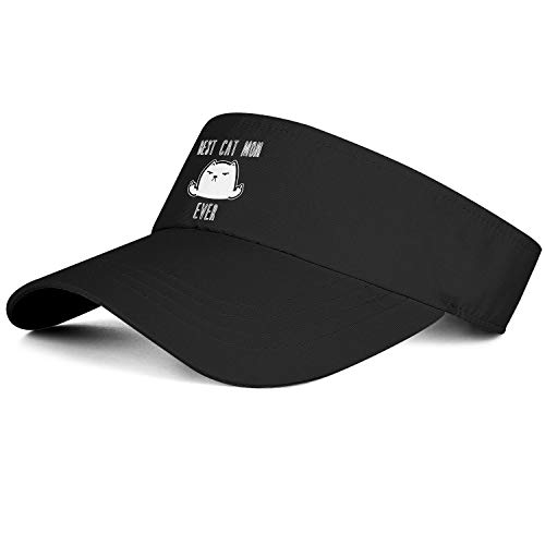 Sports Sun Visor Hats Mens' Women Best Cat MOM Ever Ball Caps for Golf Cycling Running Tennis & Hiking