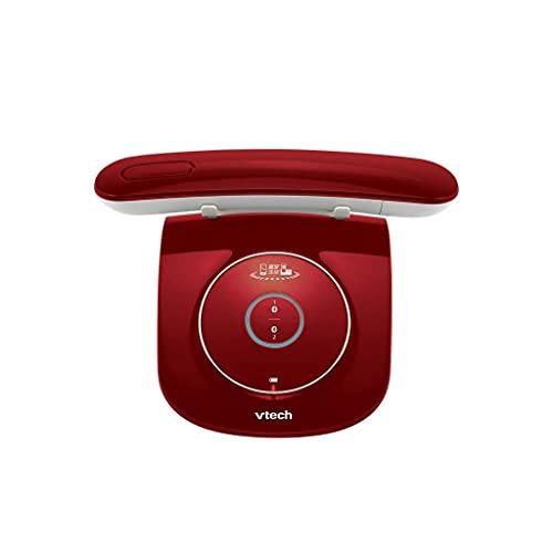 LDDZB Teléfono Familia Simple inalámbrico inalámbrico Multicolor Multicolor Opcional teléfono móvil conexión Bluetooth teléfono Fijo (Color: Rojo) (Color: Naranja) (Color : Red)