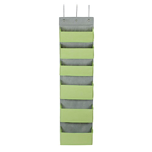 Household Essentials 2167-1 Over-the- Over-the-Door Organizer, Green