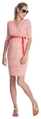 Seraphine Maternity Dress - Nursing Dress - Callie: Jersey Nursing Dress- Blush Pink