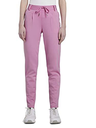 TOM TAILOR Denim Damen Knitted Trackpants Freizeithose, 22340-bright pink, M/32