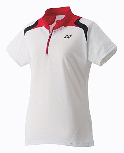 YONEX 20240EX Badminton Damen Poloshirt, Weiß, XL