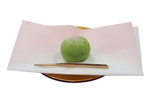 和菓子 お菓子用 しき紙 袋型 半紙 白地にピンクぼかし 日本製 (30枚入り)