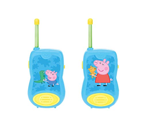 Lexibook TW12PP Peppa Pig Walkie-Talkies, für Kinder, Gürtelclip, Batterie, Blau