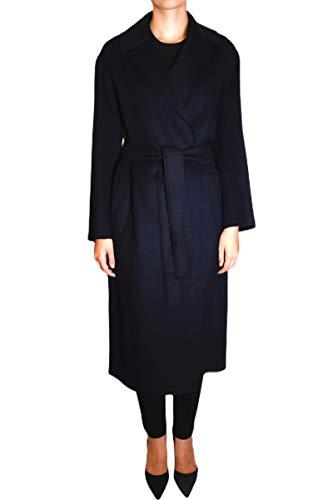 S MAX MARA - Abrigo de doble lana modelo Lugano turquesa 38