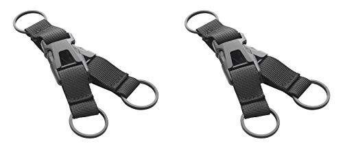 munkees Schlüsselanhänger abnehmbar, Karabiner Gurte Halterung Gürtel aus Nylon mit herausnehmbarer Schnalle, für Rucksack Camping Wandern Klettern, 2er Pack