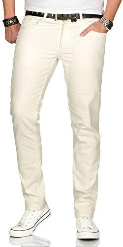 A. Salvarini Herren Designer Jeans Hose Stretch Basic Jeanshose Regular Slim [AS090 - W38 L30]