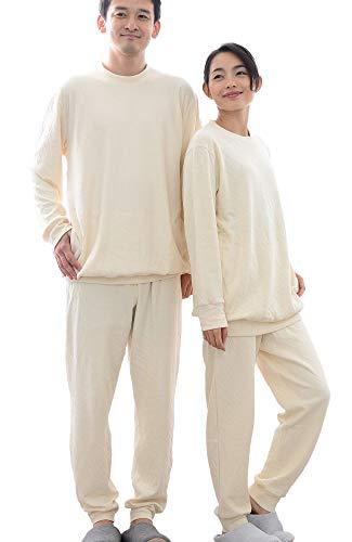 [パジャマ工房] パジャマ 長袖 かぶり 丸首 [癒しのパジャマシリーズ] オーガニックコットン100% 無染色接...