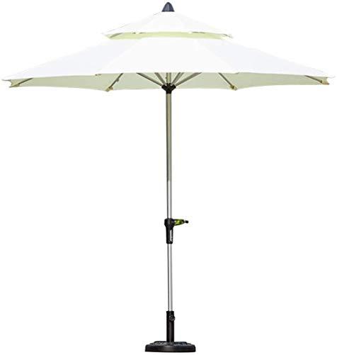 Sombrilla Parasol con Ángulo Ajustable Patio al aire libre del paraguas de mercado con base, Grande portátil Patio Sombrilla con soporte lateral for el lado de la piscina, cubierta, jardín, patio tras