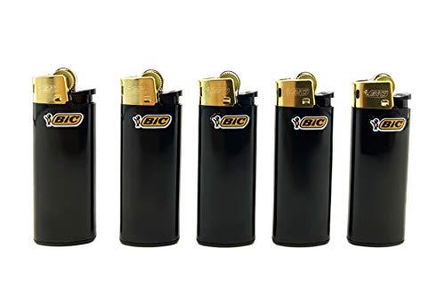 Lot de 5 briquets bic mini Noir