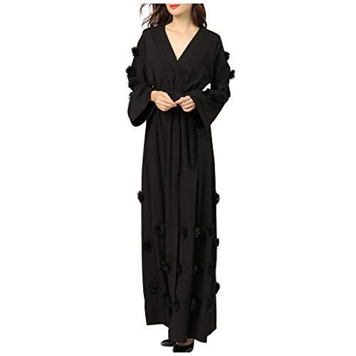 Vestido de mujer Maxikleid, kimono abaya, vestido de encaje, Dubai Islamic árabe Kaftan Robe Dubai elegante vestido de musulmana Kaftan chaqueta de punto Robe