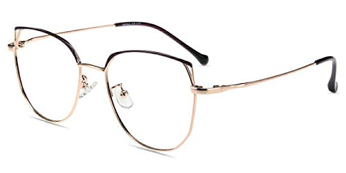 Firmoo Anti Blaulicht Brille Entspiegelt Ohne Sehstärke für Damen, UV Blaufilter Gläser Brille für Bildschirme Arbeitsplatz