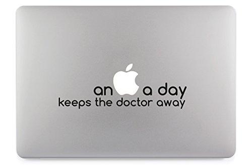 an apple a day keeps the doctor away Apple MacBook Air Pro Aufkleber Skin Decal Sticker Vinyl (15