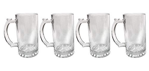 Peter Lit - Beer Mugs for Freezer – Freezable Glass Beer Mugs Stein, 16 Oz Beer Mug, Set of 4
