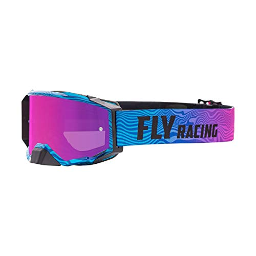 Fly Racing 2021 Zone Pro Goggles (Pink/Blue/Pink Mirror/Smoke Lens)