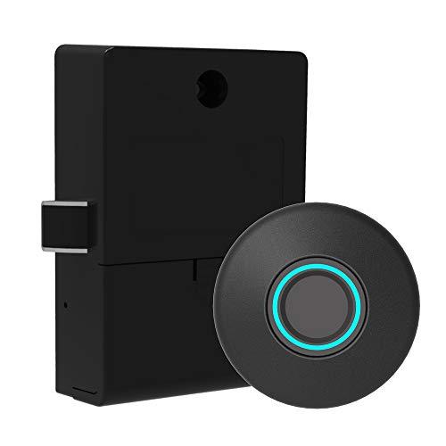 Fingerprint Lock Cabinet Locks Biometric Keyless Wooden Box Furniture Drawer Fingerprint Locks,Suitable for Home &Office (M)