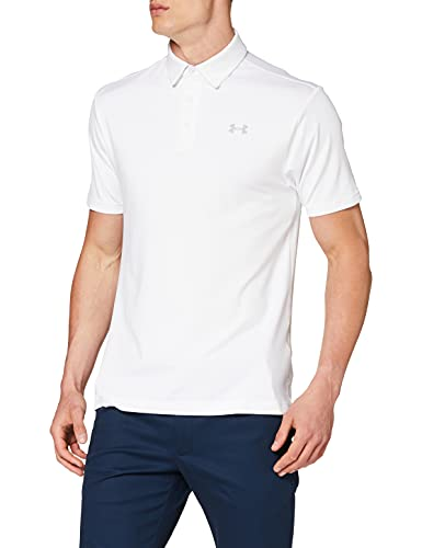 Under Armour Playoff 2.0, Polo Homme, Blanc (White/Mod Gray (107)), Taille M