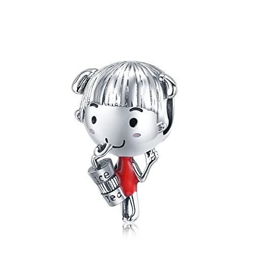 LISHOU Authentische 925 Sterling Silber Charms Perlen Zitrone Kamera Junge Mädchen Charm Anhänger Fit Pandora Armband Halskette DIY Sommer Schmuck D11