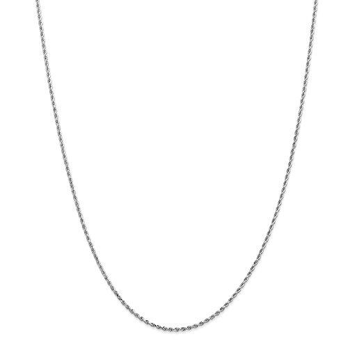 14K bianco oro 1.5mm D/C Rope Chain
