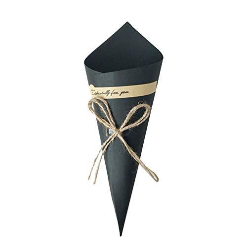 Renquen - 50 conos de boda para confeti o bolso, papel kraft,...