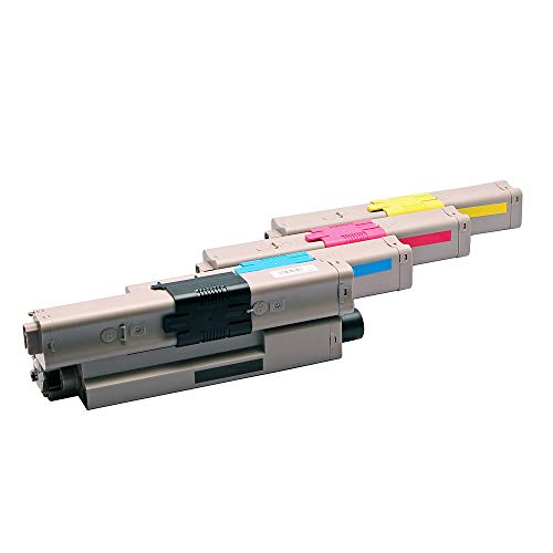 Set 4X Alternativ Toner für Oki C332 C332DN MC363 MC363DN MC363N C 332 C 332DN MC 363 MC 363DN MC 363N 46508713 46508714 46508715 46508716 von ABC