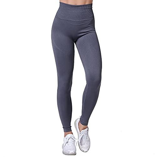 XUNHOU Leggings de Yoga Ultra Suaves y cómodos,Pantalones de Yoga elásticos y Transpirables,Leggings de Cintura Alta sin costuras-09_S,Leggings de Deportivos Gym únicos