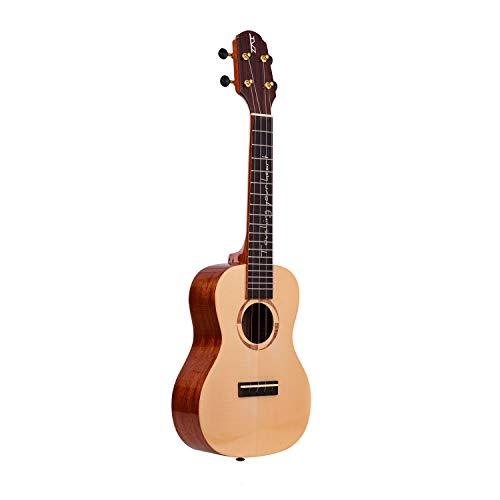 ウクレレ ukulele コンサートウクレレ ロ 23インチ スプルーストップ単板 マホガニー合板 カーボン弦 鏡面塗装 高級工芸品 バッグ ストラップ カポ チューナー 3 ピック 4弦付き