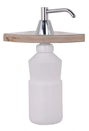 HEXOTOL CN907H-Dispenser per Sapone Liquido in Ottone Cromato, 14,1 X 8,7 X 44,9 cm