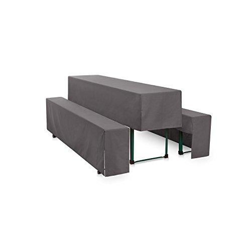 Hans-Textil-Shop Hussen-Set 200x50 cm Grau Polyester Halblang