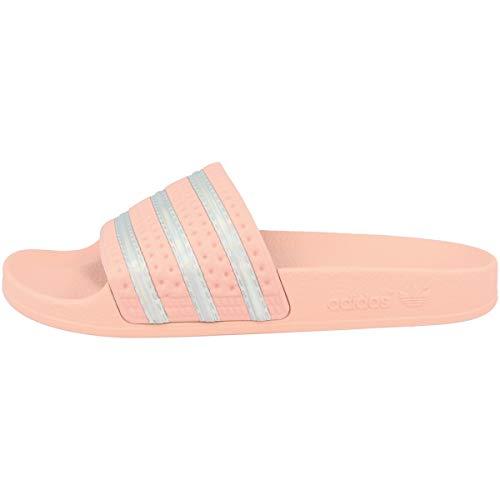 adidas Womens Adilette W Running Shoe, HAZCOR/FTWWHT/HAZCOR,42 EU