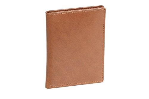 LEAS Caja de piel para DNI Tarjetero para DNI Tarjetero para tarjetas de crédito, Piel auténtica, coñac Card-Collection''