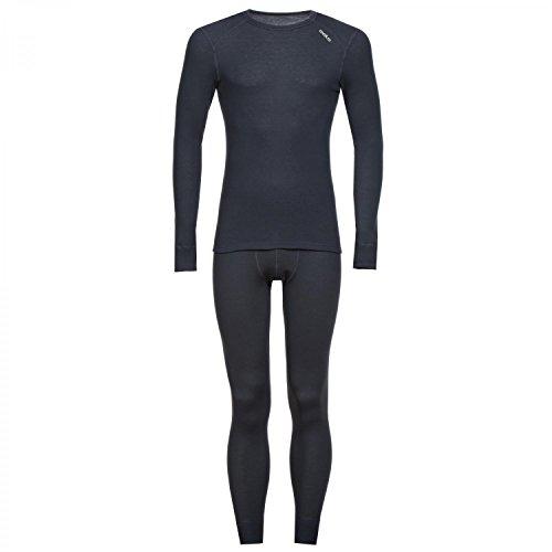 Odlo T-Shirt à Manches Longues et caleçon Long pour Homme XL Bleu