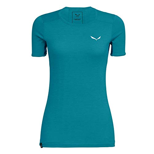 Salewa PUEZ Graphic 2 Dry W S/S Tee Femme, Ocean Melange, FR : L (Taille Fabricant : 40/34)