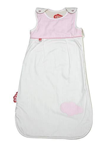 4 Jahreszeiten Kinderschlafsack in 3 Größen & vielen süßen Designs - Atmungsaktiver Schlafsack für einen erholsamen Schlaf mit Zizzz (90cm (6-24 M), Vichy pink)