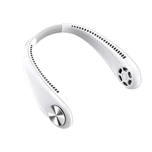 WEDFTGF Tragbarer Flügelloser 360° Kühlender Halskettenventilator Händefrei Hängender Hals Luftkühler USB Wiederaufladbare Persönliche Kopfhörer