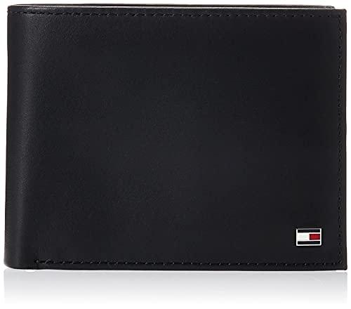 Tommy Hilfiger ETON CC FLAP AND COIN POCKET AM0AM00652 Herren Geldbörsen 13x10x2 cm (B x H x T), Schwarz (BLACK 002)