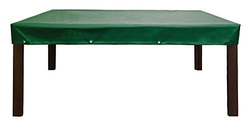 Abdeckplane   Abdeckhaube für Gartentisch/Gartenmöbel   Premium Schutzhülle aus LKW Plane (650gr./Hollandgrün)   absolut Winterfest und wasserdicht   160x90x15