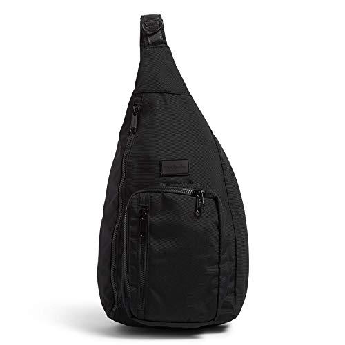 Vera Bradley Women's Recycled Lighten Up ReActive Sling Backpack, Black, One Size