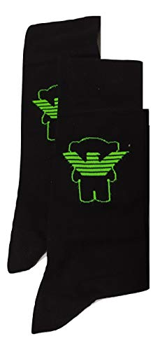 Emporio Armani Bi-Pack Herren Socken Logo EA schwarz