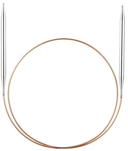 Addi Ferri Circolari, Metal, Argento/Oro, 80 cm di Lunghezza x 3,00 mm di Spessore