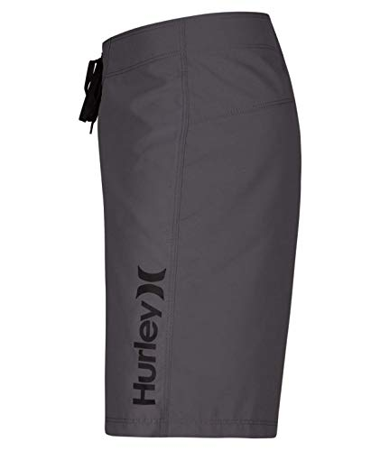 Hurley Big Boys' One and Only Supersuede Boardshorts - Cool Grey/Black - 25