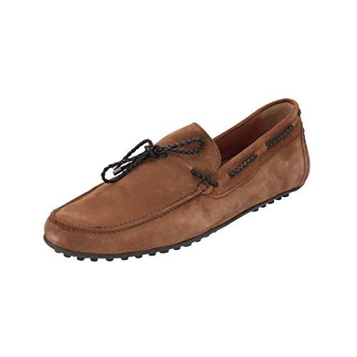 Brett & Sons Waven Herren Loafer Braun Slip-Ons Business-Schuhe, Größe:46 EU