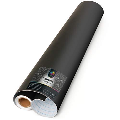 OfficeTree Tafelfolie schwarz 300 cm Rolle - selbstklebend - 43 cm breit - Chalkboard - Schreiben Zeichnen Malen Akzente setzen mit Kreide - Inneneinrichtung DiY Deko Präsentation - (1 Rolle)