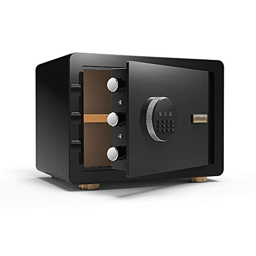 Caja Fuerte de Casa Caja de Seguridad con Teclado Digital, electrónico Contraseña Caja de Seguridad Inicio Todas Cerradura de Acero Cash Box Box buzón de Documentos (Color : Black)