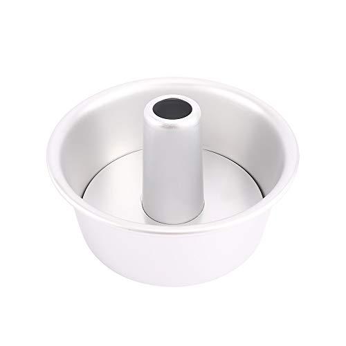 NKLC 15,2 x 20,3 cm Aluminiumlegierung runde hohle Chiffon Kuchenform Mini Angel Food Kuchenform Kuchenform Backform mit abnehmbarem Boden für Küche 6 inch
