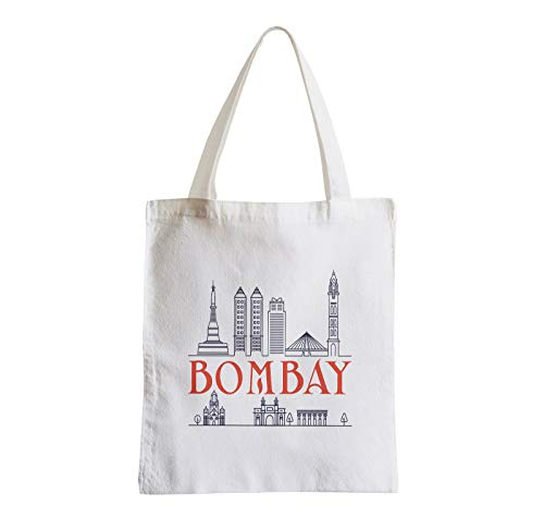 Big Canvas Tote Shopper Bag Bombay Minimalist Mumbai Travel India Gandhi