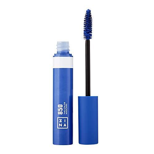 3INA Makeup - Vegan - Cruelty Free - The Color Mascara 850 - Bunter Mascara für Volumen und Länge - Bunte Wimperntusche - Hochpigmentiert - Langhaltende und Wasserfest - Blau