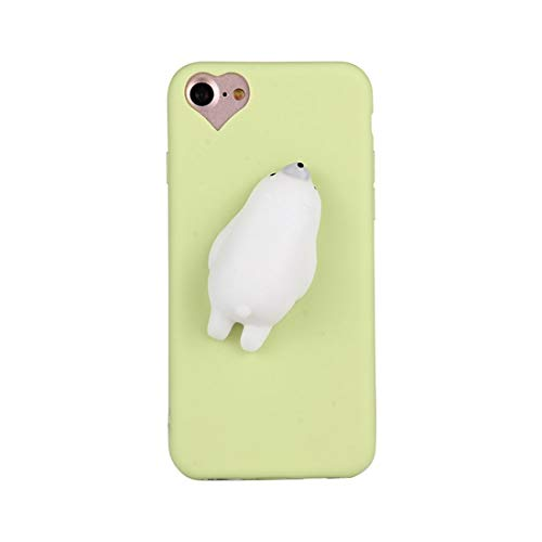 Shiningxie New For iPhone 8 & 7 Green Background Lovely Bear Pattern Squeeze Relief Squishy Dropproof Protective Back Cover Case