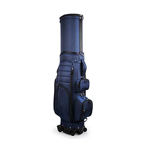 For Sale! EAHKGmh Golf Bag Dark Golf Bags Unisex Four Wheels with Telescopic Bag, Suitable for Gol...